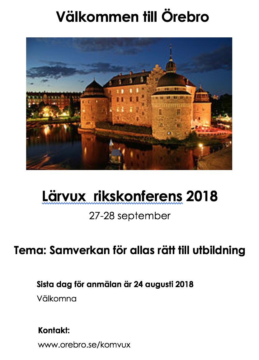 Rikskonferens i Örebro